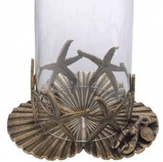 Casa Padrino Luxus Kerzenleuchter Vintage Messingfarben Ø 20, 5 x H. 31, 5 cm - Luxus Deko Accessoires - Vorschau 3