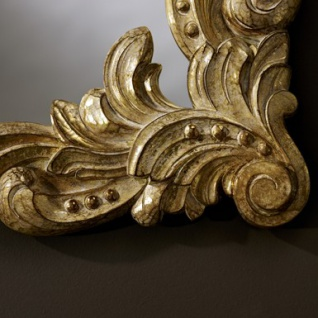Casa Padrino Barock Wandspiegel Antik Stil Gold 92 x 110 cm - Barocker Spiegel - Vorschau 2