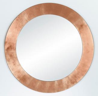 Casa Padrino Wohnzimmer Spiegel Kupferfarben Ø 110 cm - Luxus Kollektion