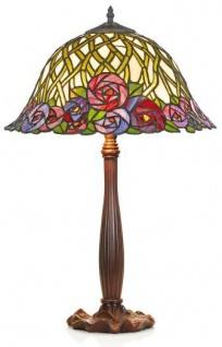 Casa Padrino Tiffany Tischleuchte Hockerleuchte Durchmesser 40 cm - Leuchte Lampe