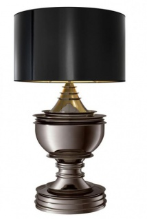 Casa Padrino Luxus Tischleuchte Schwarz Nickel - Luxus Hotel Leuchte