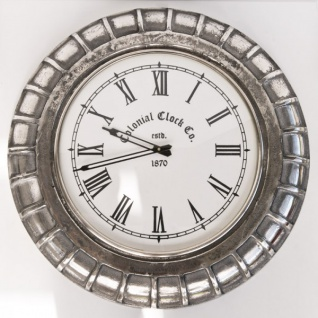 Casa Padrino Vintage Wanduhr Aluminium - Designer Wand Uhr - Vorschau