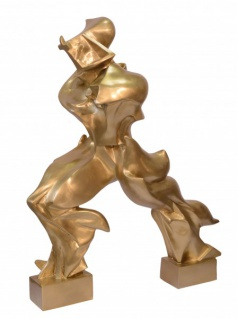 Riesige Casa Padrino Luxus Bronze Figur -Unique Forms Of Continuity In Space- 127 cm - Skulptur Futurismus