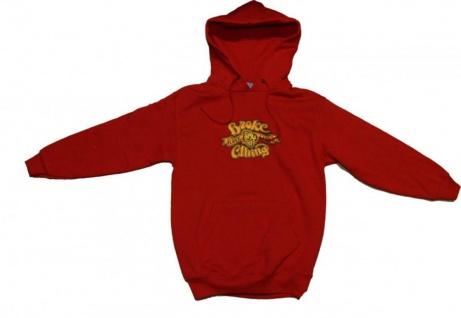 Broke Skateboard Pullover Basic Hoodie Red Sweater