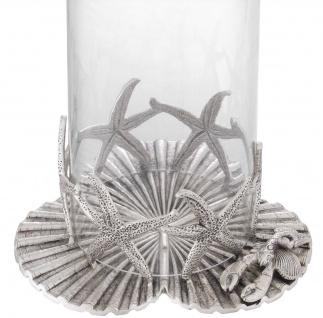 Casa Padrino Luxus Kerzenleuchter Antik Silber Ø 20, 5 x H. 31, 5 cm - Luxus Deko Accessoires - Vorschau 3