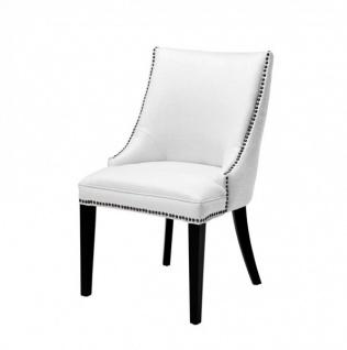 Casa Padrino Luxus Birkenholz Esszimmer Stuhl Creme - Luxus Hotel Möbel