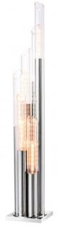 Casa Padrino Luxus Designer Stehleuchte Silber 30 x 30 x H. 175 cm - Limited Edition
