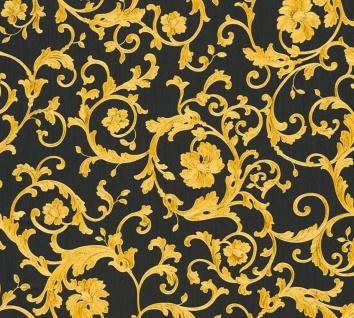 Versace Designer Barock Vliestapete Butterfly Barocco 343262 Schwarz / Gold - Design Tapete - Luxus Tapete