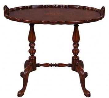 Casa Padrino Luxus Barock Teetisch / Beistelltisch mit 2 Tragegriffen Braun 66, 5 x 44, 5 x H. 55, 2 cm - Barockmöbel