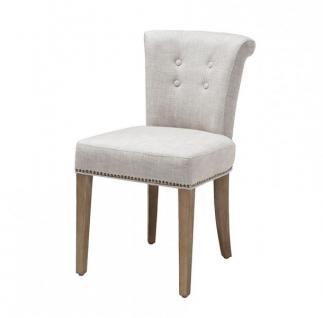 Casa Padrino Luxus Esszimmer Stuhl Weiß - Luxus Qualität