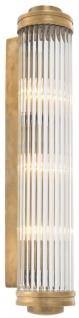 Casa Padrino Wandleuchte / Wandlampe Vintage Messing 11 x 14 x H. 60 cm - Luxus Kollektion