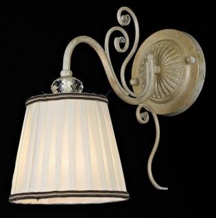 Casa Padrino Barock Kristall Wandleuchte Weiß Gold 30 x H 28 cm Antik Stil - Wandlampe Wand Beleuchtung