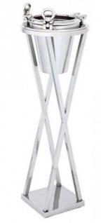 Massiver Luxus Weinkühler / Sektkühler mit Ständer Bullauge H 100cm B 32cm aus dem Hause Casa Padrino