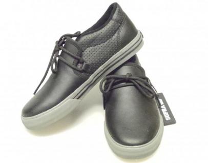 SUPRA Skateboard Schuhe Cuban Kids Schwarz/Grau - Vorschau