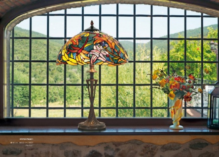 Tiffany Hockerleuchte Höhe 60 cm, Durchmesser 40 cm, Leuchte Lampe - Vorschau