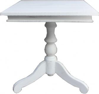 Casa Padrino Landhausstil Beistelltisch 55 x 55 x H61 cm Shabby Chic Weiß - Vintage Look Tisch