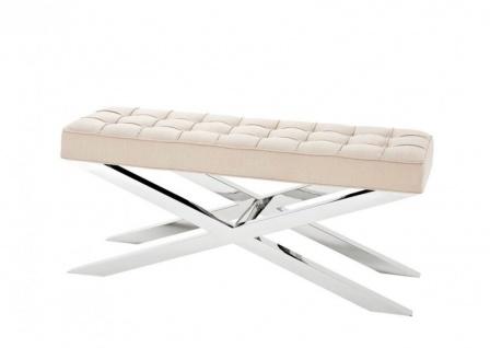 Casa Padrino Luxus Sitzbank 120 x 42, 5 x H. 53, 5 cm - Luxus Kollektion