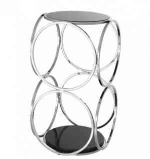 Casa Padrino Luxus Art Deco Designer Beistelltisch 32 x 32 x H. 61, 5 cm - Luxus Qualität