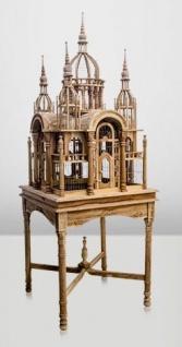 Casa Padrino Barock Vogelpalast handgeschnitzt aus Mahagoniholz H190cm - Vogelhaus Vogelkäfig Antik Stil - Vorschau 4