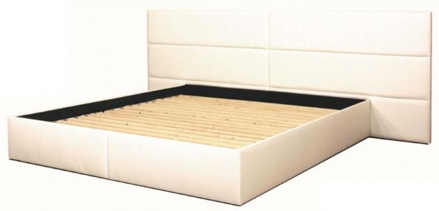Casa Padrino Echtleder Bett Weiß - Luxus Möbel