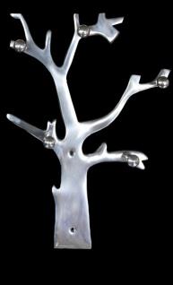 Casa Padrino Designer Wandschlüssel und Halsketten Halter aus Aluminium, Höhe 41 cm, Breite 29 cm - Schlüsselhalter Wandschlüsselanhänger