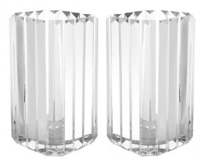 Casa Padrino Luxus Kerzenhalter / Teelichthalter 2er Set 12 x 12 x H. 20, 5 cm - Hotel Restaurant Kollektion