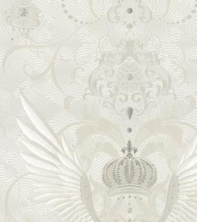 Harald Glööckler Designer Barock Vliestapete 54457 - Adlerschwingen - Weiß / Beige / Creme