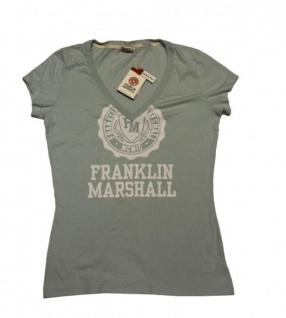 Franklin & Marshall Girly Designer Shirt Jadefarben - Made in Italy - T-Shirt