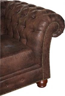 Casa Padrino Luxus Chesterfield Sofa Braun - Chesterfield Wohnzimmer Möbel - Vorschau 3