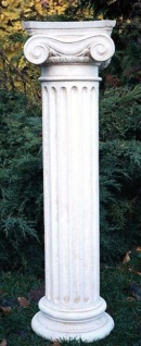 Casa Padrino Barock Säule / Gartensäule Weiß 24 x 24 x H. 90 cm - Gartendeko Accessoires