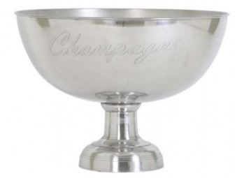 Casa Padrino Luxus Champagnerkühler Durchmesser 50 x H. 36 cm - Aluminium Champagnerkühler