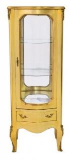 Casa Padrino Barock Vitrine Gold 130 cm - Vitrinenschrank - Wohnzimmerschrank