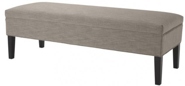 Casa Padrino Designer Sitzbank Hellbraun 140 x 50 x H. 45 cm - Luxus Möbel