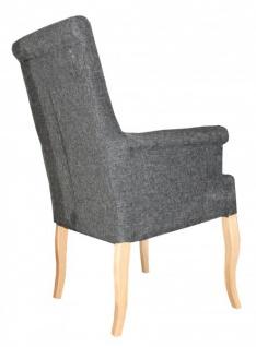 Casa Padrino Luxus Esszimmer Stuhl Grau mit Armlehnen - Barock Möbel - Vorschau 2