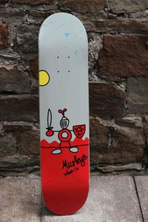 Murkys Skateboard Beginner Deck 7.5 inch mit Jessup Griptape - Lagerware mit leichten Kratzern