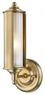 Casa Padrino Luxus Wandleuchte Antik Messing / Weiß 12, 1 x 12, 7 x H. 31, 1 cm - Luxus Kollektion