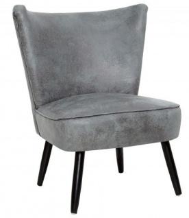 Casa Padrino 60er Jahre Retro Salon Sessel Antik Grau - Cocktailsessel Jahre 1960´s Sixties