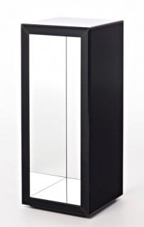 Casa Padrino Luxus Beistelltisch im Säulen Design Schwarz 46 x 46 x H. 112 cm - Luxus Qualität