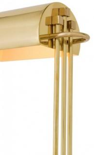 Casa Padrino Luxus Schreibtisch Leuchte Messing poliert - Leuchte Lampe - Tischleuchte Tischlampe - Vorschau 2