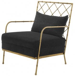 Casa Padrino Luxus Sessel Antik Messing 64, 5 x 71, 5 x H. 83 cm - Limited Edition