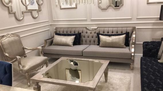 Casa Padrino Luxus Barock Sessel Silber / Antik Silber - Prunkvoller Wohnzimmer Sessel - Barock Wohnzimmer Möbel - Edel & Prunkvoll - Vorschau 2