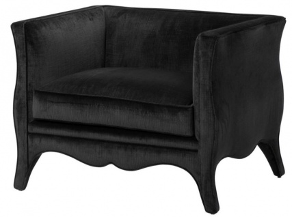 Casa Padrino Designer Sessel Schwarz - Luxus Möbel