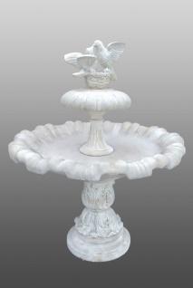 Casa Padrino Jugendstil Springbrunnen mit Tauben Ø 130 x H. 155 cm - Barock & Jugendstil Gartenbrunnen