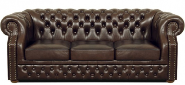 Casa Padrino Luxus Echtleder 3er Sofa Dunkelbraun 210 x 90 x H. 80 cm - Chesterfield Sofa