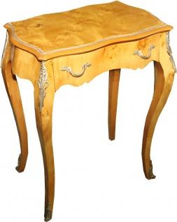 Casa Padrino Barock Beistelltisch Modell Mahagoni hellbraun 59 x 73 cm - Barock Telefontisch