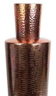 Casa Padrino Luxus Deko Vase Kupferfarben Ø 20 x H. 74 cm - Designer Aluminium Blumenvase - Vorschau 2