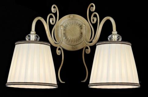Casa Padrino Barock Kristall Wandleuchte Weiß Gold 27 x H 28 cm Antik Stil - Wandlampe Wand Beleuchtung