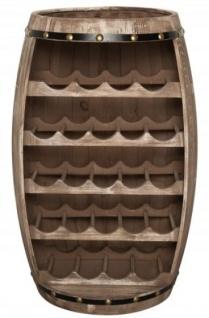 Casa Padrino Bar Weinschrank Bartisch aus Tanne Massivholz Natur - Holzfaß Weinfaß Faßmöbel Faßschrank Hotel & Restaurant Einrichtung Möbel Tisch