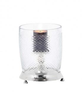 Casa Padrino Luxus Aluminium Kerzenleuchter Nickel Finish - Luxus Qualität