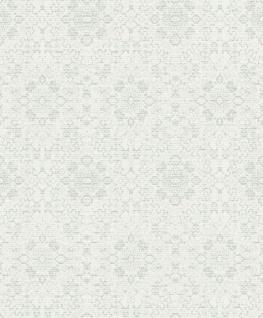 Casa Padrino Barock Tapete Weiß / Hellblau 10, 05 x 0, 53 m - Textiltapete im Barockstil